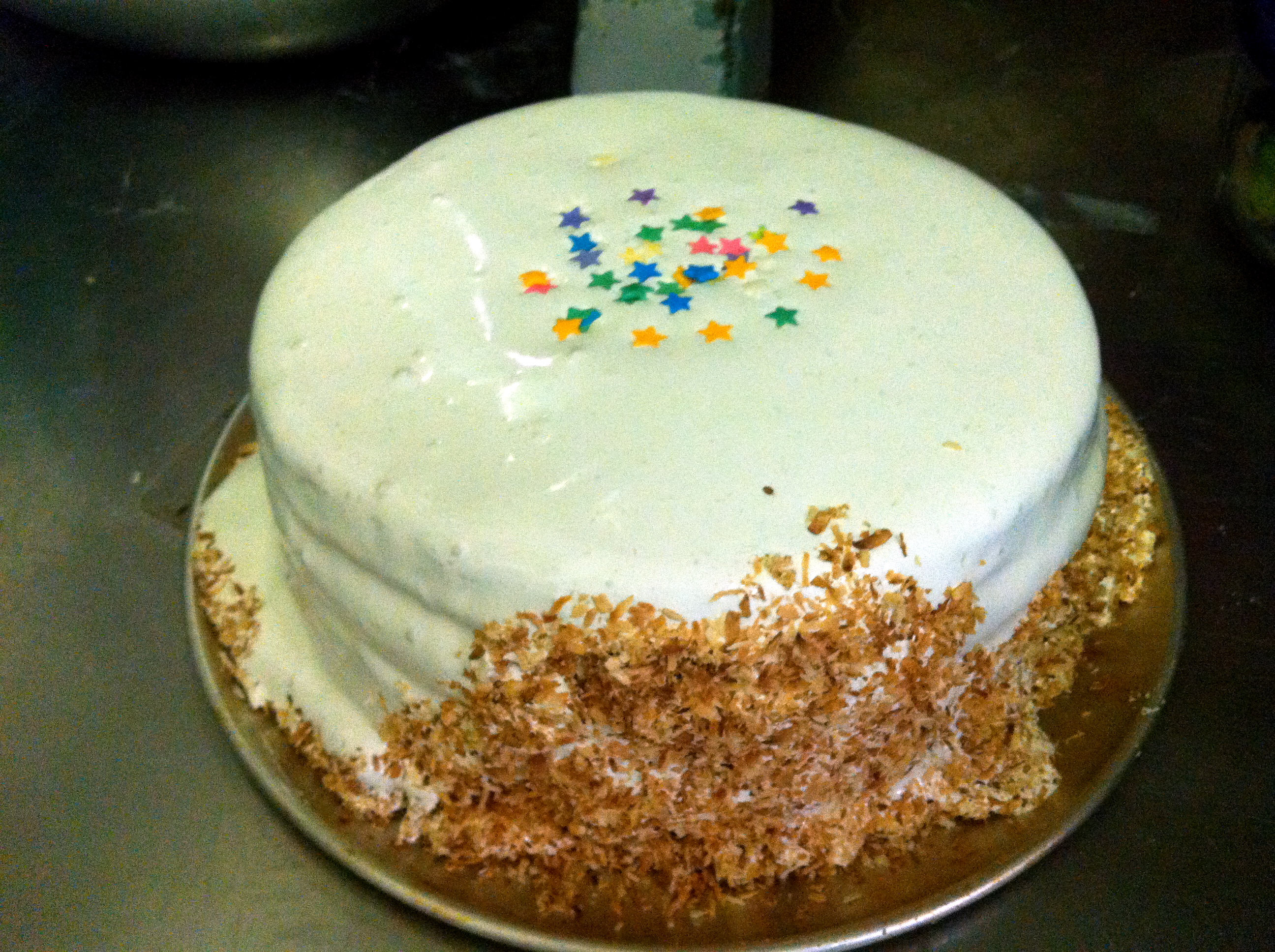 Happy Birthday White Coconut and Cranberry Curd Cake (With ...